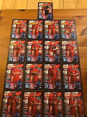 Match Attax 19/20 Champions / Europa League - 17x Liverpool Cards as pictured