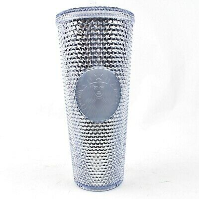 Starbucks Platinum Bling Silver Studded Tumbler Winter Holiday 2019 Cup 24oz