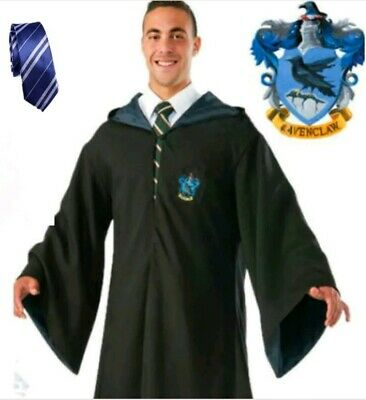 Halloween Harry Potter Adult Kids  Ravenclaw Robe tie Cosplay Costume L