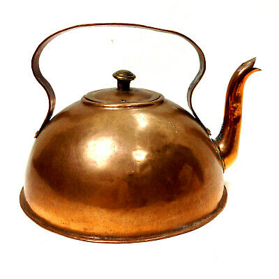 Antique COPPER KETTLE STOVE TOP DECORATING PIECE