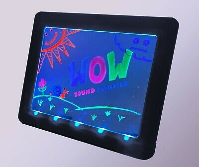 Glow Art Sonic Neon Effect Drawing Board, Sound Activated, Black