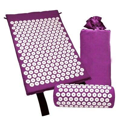 Acupressure Massage Mat with Pillow for Stress/Pain/Tension Relief Body rel O4V9