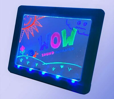 Glow Art Sonic Neon Effect, Sound Activated Drawing Board, Blue
