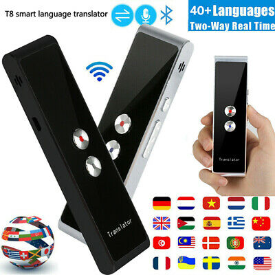 T8 Smart Voice Translator Portable Two-Way Real Time Multi-Language Translat GQ