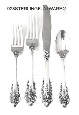 Wallace Grande Baroque flatware Sterling 925 Silver 4 PC Place Setting  No Mono