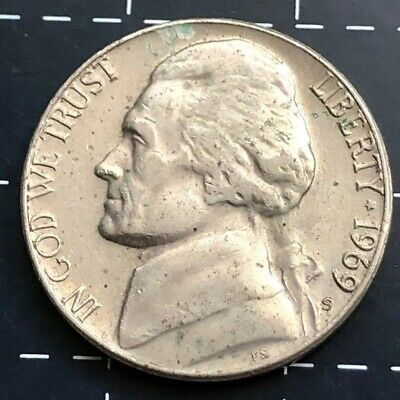 1969 United States Of America U.s.a - Us Five Cents 5 Cent Coin - Monticello