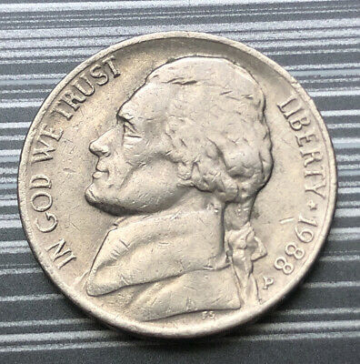 1980 United States Of America U.s.a - Us Five Cents 5 Cent Coin - Monticello