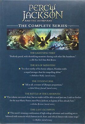 Percy Jackson&the Olympians 5 Book Paperback Boxed Set Paperback by Rick Riordan
