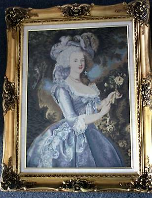 Vintage Rescued And Refurbished Art -- Grand Lady