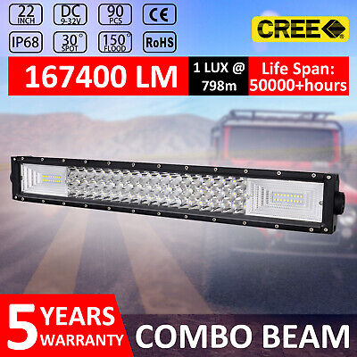 22INCH LED Light Bar Combo Beam Work Driving Off Road 4WD 20'' 23""