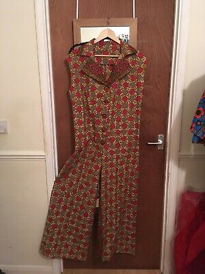 Ladies African Jumpsuit/Ankara Jumpsuit African Wax Print to fit UK Size 14.