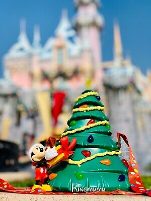 Disney Parks Mickey Light Up Tree Popcorn Bucket Christmas Holidays Decorations