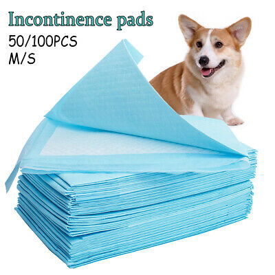 50/100Pcs Puppy Pet Dog Cat Training Diaper Toilet Indoor Wee Pee Pads Two Size