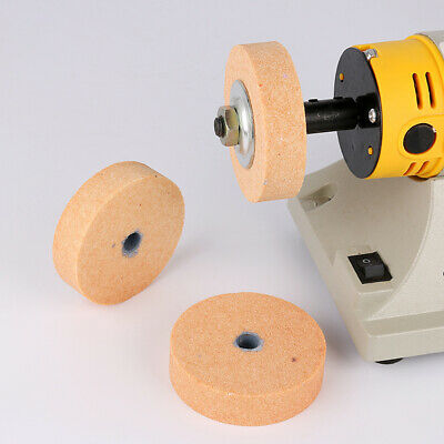 """3"""" Ceramic Grinding Wheel Rotary Tool With 10mm Bore For Metal Stone Polishing"""