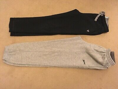 Childs tracksuit jogger bottoms black grey Slazenger age 9 10 casual