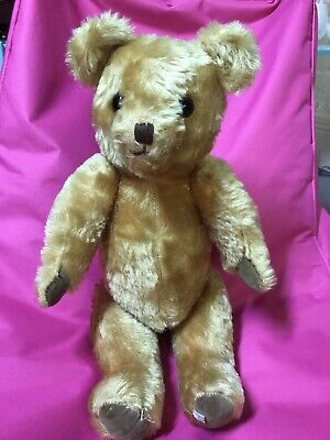 Vintage Joy Toy Jointed Teddy bear Made In Australia
