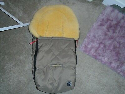 Luxury Kaiser Real Sheepskin Footmuff For Buggy/Pushchair, Taupe - NEW