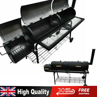 Nevada XL Charcoal Trolley Smoker BBQ Grill Barbecue Garden Outdoor Cooking