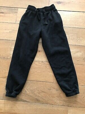 Marks & Spencer Boys Girls Black Sweatpants /Joggers, Unisex, 4-5 Years Old