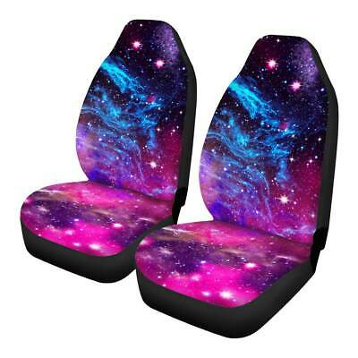 Purple Galaxy Women Car Seat Cover SUV,Truck,Van Front Seat Protector Universal