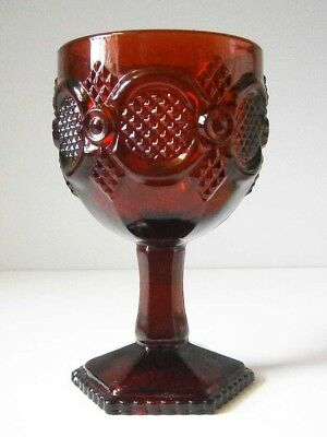 Collectable Avon Ruby Red Glass Large Goblet 15Cm Tall