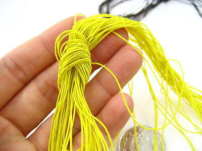 60ms 1mm yellow Round Cord Elastic Stretchy Thread hat Beading jewellery elastic