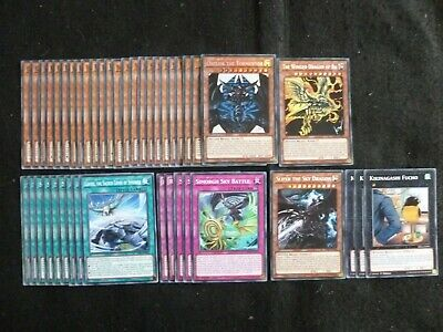 Yu-Gi-Oh 43 Card Egyptian God Deck Includes Slifer Ra & Obelisk  *Ready To Play*