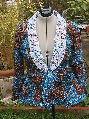 Ladies African tops/African Print Top/Ankara Jacket UK Size 14.