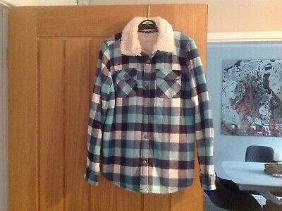 Marks and Spencer boys fleece lined thick shirt age 8-9