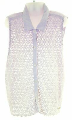 ABERCROMBIE & FITCH Girls Top Blouse Sleeveless 14-15 Years Medium Purple  BY17