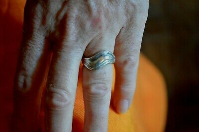 Greek Jewelry Ilias Lalaounis Sterling Silver Ring Minimal Design Size 6