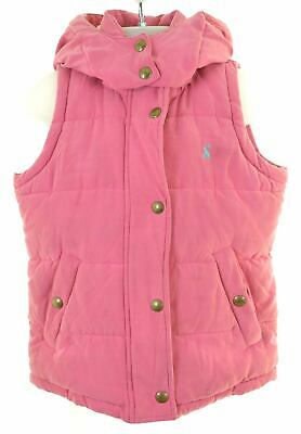 JOULES Girls Padded Gilet 4-5 Years Pink Polyester  BY05