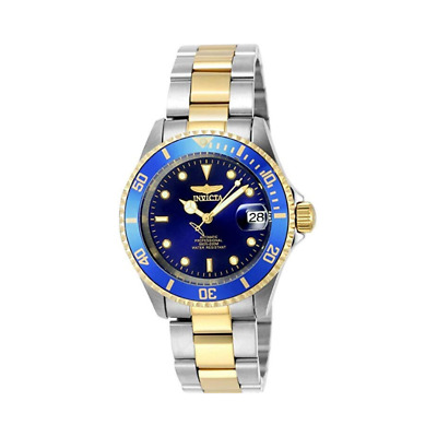 Invicta 8928OB Men's Silver Stainless Steel Analog Blue Dia Wrist Watch C20-15