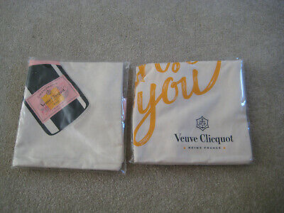 2 x Champagne Veuve Clicquot Tote Bags Both Brand New Nice 4 Xmas