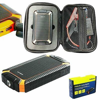 7500mAh Slim 12v 400A Car Lithium Battery Jump Starter Power Pack Bank