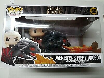 Funko Pop Game of Thrones #68 Daenerys & Fiery Drogon Figure Brand New