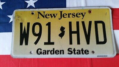 Plaque d'immatriculation New Jersey W91 HVD US USA license plate