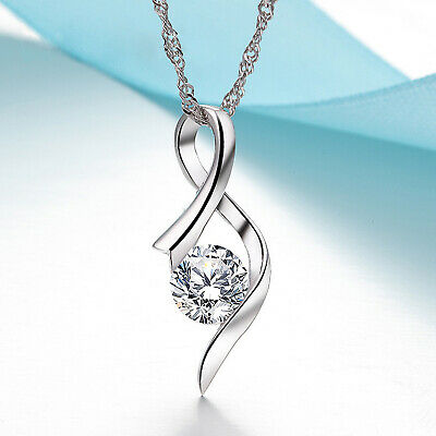 REAL SOLID SILVER 925  Classic Sterling Silver Necklace & Pendant Accent-039