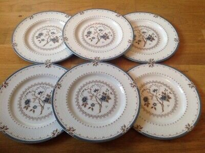 Royal Doulton Old Colony TC1005 ( 6 Rimmed Salad Plates 20.5cm 1st Quality )
