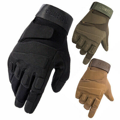 Tactical Hunting Full Finger Gloves Army Military Combat Paintball Airsoft Gear