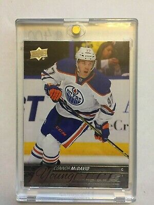 CONNOR MCDAVID #201 Upper Deck 2015-16 Young Guns RC Oilers