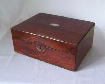 Antique Victorian Rosewood Sewing / Jewellery Box  to restore Spares Repairs