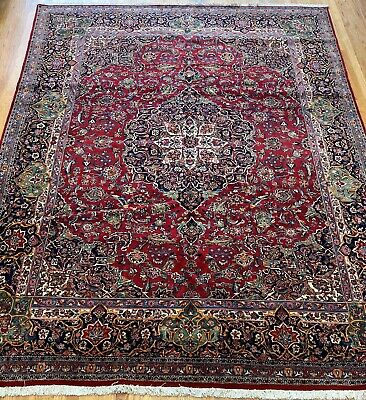 Authentic Antique Kashann Hand-knotted Premium Wool Oriental Rug 8.4 x 11