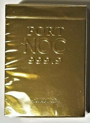 New Limited Edition by Alex Pandrea Sold Out Gold Fort NOC Playing Cards