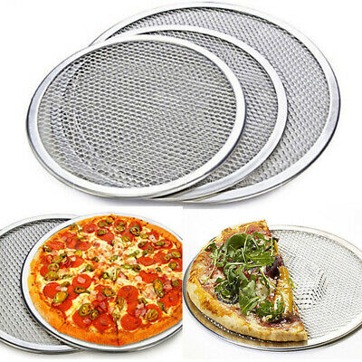 UK Professional Round Pizza Oven Baking Tray Barbecue Grate Nonstick Mesh Net