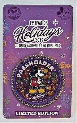 Disneyland Disney Parks 2019 Christmas Festival of Holidays DCA Passholder Pin