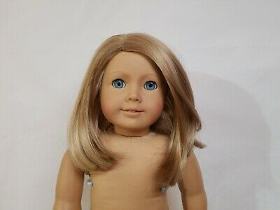 American Girl Blonde TM53 WIG ONLY for 18in Doll Straight Blond Parts Repair TLC