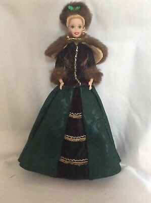 Porcelain Holiday Caroler Barbie - No Box