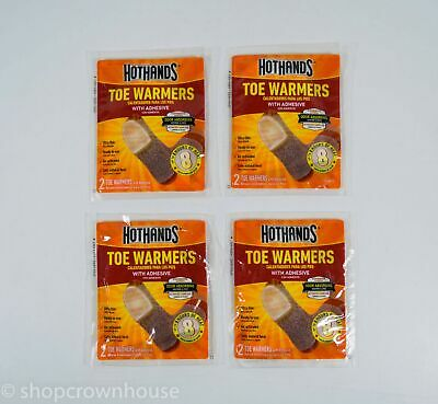 4 Pairs of HotHand Toe Warmers - Up to 8 Hours of Heat EXP 12/2021 NIP 8 Total