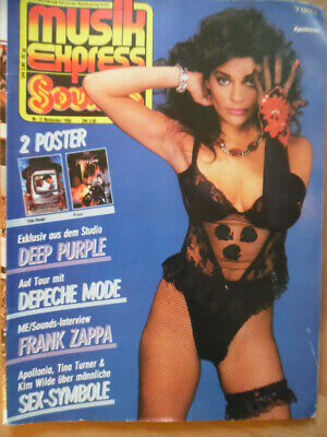 MUSIKEXPRESS 11 - 1984 (2) Apollonia Depeche Mode Deep Purpel Frank Zappa Kunze